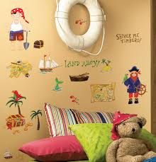 welcome world wall stickers treasure hunt carribean rmk scs