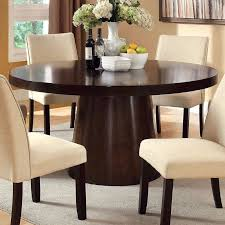 Espresso Dining Room Furniture Furniture Of America Vessice Round Dining Table Hayneedle