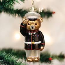 amazon com old world christmas marine bear glass blown ornament