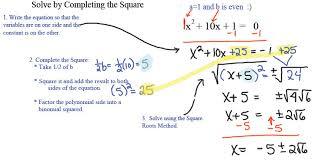 two methods for solving quadratic equations