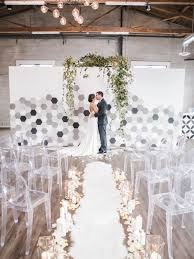 wedding altar backdrop bold teal modern inspiration best wedding