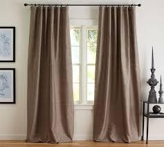 Silk Dupioni Curtains Dupioni Silk Pole Pocket Drape Brownstone Pottery Barn