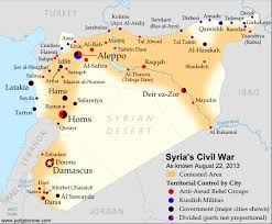 map of syria syria civil war map august 2013 11 political geography now