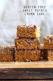 vegan gluten free coffee cake sweet potato pecan crumb cake