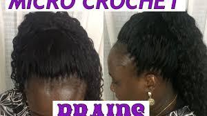 micro crochet hair micro crochet braids tutorial youtube