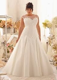 large size wedding dresses plus size wedding dress lace appliques on net style 3151 morilee