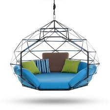the hanging lounger by kodama zome outdoor swing bed lounge
