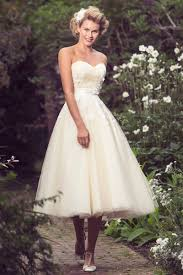 50 s style wedding dresses strapless sweetheart simple gown tulle tea length wedding