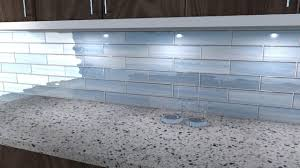 Big Blue Glass Tile Perfect For Kitchen Backsplashes And Showers - Blue glass tile backsplash