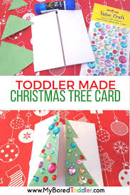 toddler made christmas tree card my bored toddler