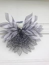 White Deco Mesh Black And White Deco Mesh Angel Angels Pinterest Deco Mesh