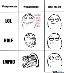 Meme Face Meanings - what you wrote lol rolf lmfao by smoushy meme center