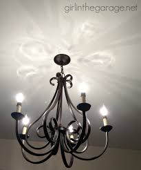 Fancy Chandelier Light Bulbs Handy Hubby Fancy Chandy In The Garage