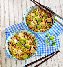 recette cuisine asiatique salade de nouilles asiatiques aux fèves les meilleures recettes de