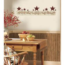 Wall Stickers For Kitchen by Primitive Arch Giant Wall Decals Country Kitchen Stars Berries