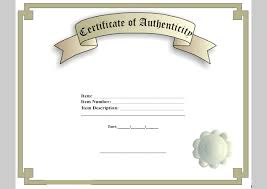 7 best images of printable certificate of authenticity