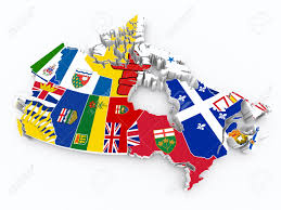 Map Canada Provinces by Canada Provinces Flags On 3d Map Stock Photo Picture And Royalty