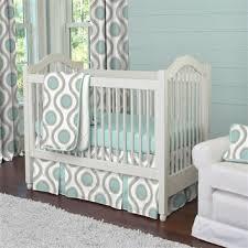 Aqua And Grey Crib Bedding Aqua And Taupe Susette Three Crib Bedding Set Oliver S