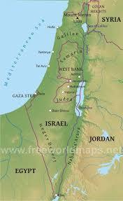 sheva israel map israel physical map