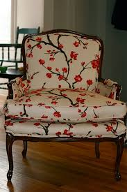 Printed Fabric Armchairs We Cover Chairs In Cherry Blossom Fabric At Least Some Do The