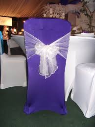 purple chair covers new products table