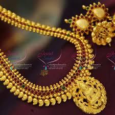 ethnic necklace design images Nl2701 south indian traditional temple laxmi god pendant haram JPG