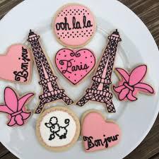 paris theme bridal shower sugar cookies eiffel towers poodles