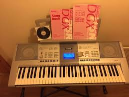 yamaha psr 295 electric portable keyboard owners manual and stand