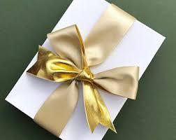 metallic gold ribbon gold satin ribbon etsy