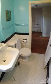 dave and fran beautiful functional black white tile vintage bathroom remodel