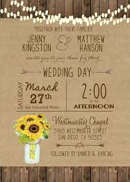 unique wedding invitation 25 best sunflower wedding invitations ideas on