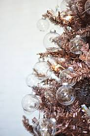 diy rose gold christmas tree christmas makes me all tingly