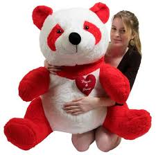 big teddy bears for valentines day custom personalized stuffed panda 32 inch soft with