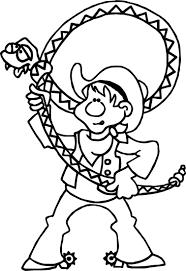 texas pecos bill cowboy coloring page wecoloringpage