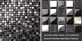 Metal  Glass Backsplash Diamond Crystal Tile Crackle Mosaic Marble - Stone glass mosaic tile backsplash