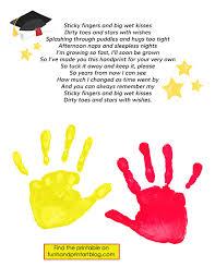 keepsake graduation poem with handprints handprint