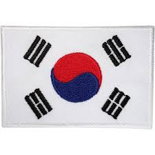 Canadian Flag Patch South Korea Flag Patch Korean Embroidered Badge Iron Sew On
