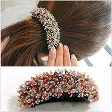 banana hair clip aliexpress buy korea hair beaded jewelry banana hairclip