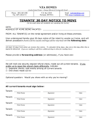 30 day notice template forms fillable u0026 printable samples for