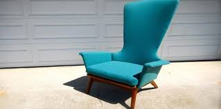 Martel Upholstery Highback Adrian Pearsall For Craft Associates 1534 C Chair Mid