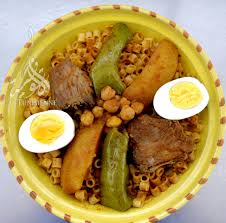 cuisine tunisienne pate au thon pâtes tunisiennes au poisson maqrouna salsa bel hout