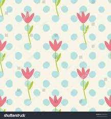 seamless cute childish pattern pastel stock vector