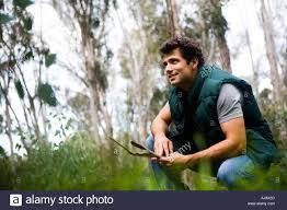Rugged Outdoor by Outdoor Rugged Guy In The Forest Stock Photo Royalty Free Image