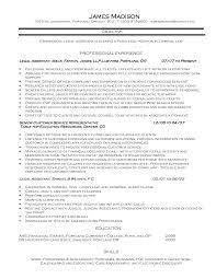 Sample Objectives On Resume Legal Resume Objective