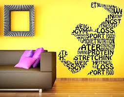 home gym wall decor athlete wall decals with home gym wall decor fitness gym wall decal