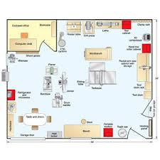 automotive shop layout floor plan reminds me of my grandfather s workshop layout i thought that