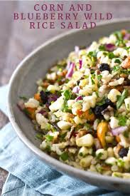 corn and blueberry wild rice salad a communal table