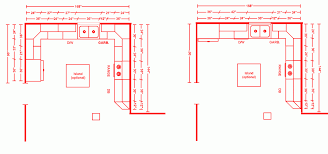 G Shaped Kitchen Floor Plans L Shaped Kitchen Floor Plans With Wooden Or Marble Flooring Tile
