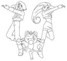team rocket coloring pages coloring
