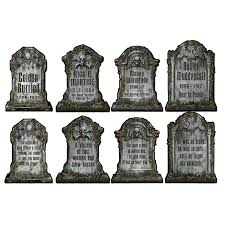 tombstone decorations beistle 01516 packaged tombstone cutouts includes 4